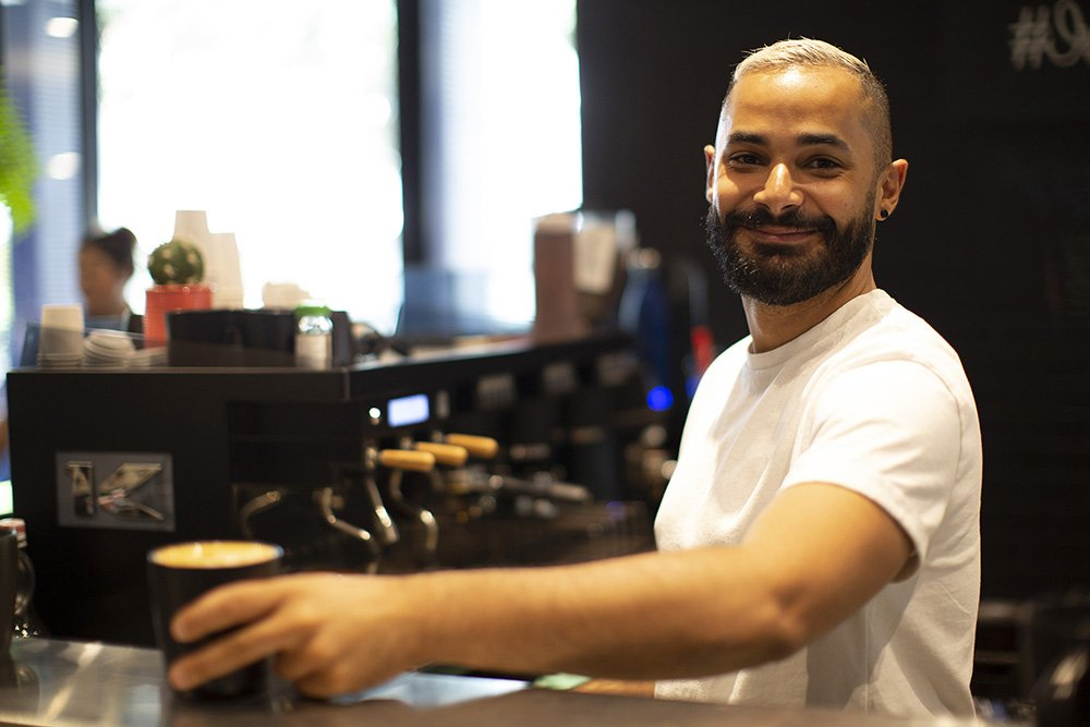 Our baristas, like Yannick, are universally loved by the team!